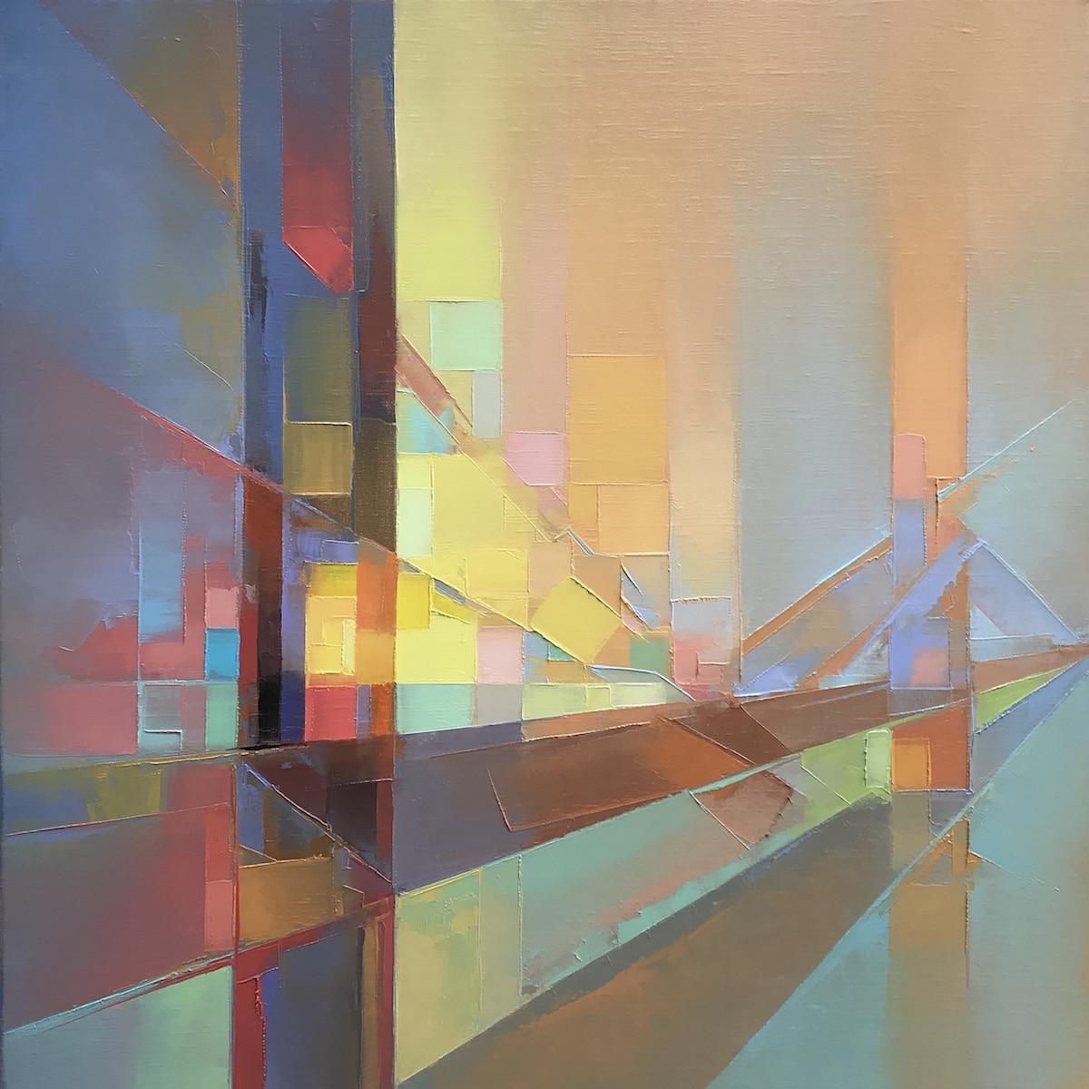 Paisajes abstractos de impasto por Jason Anderson