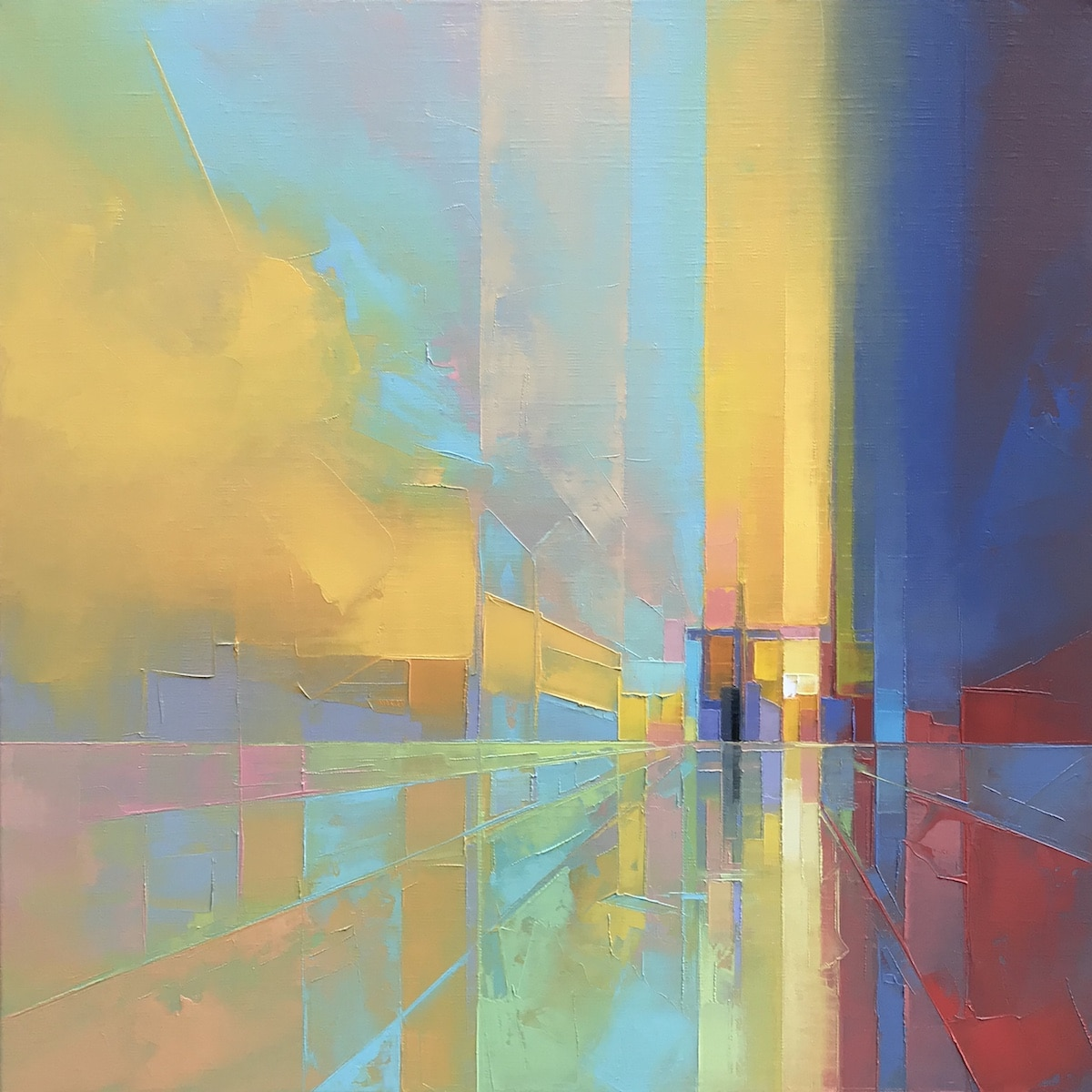 Abstract Palette Knife Paintings by Jason Anderson