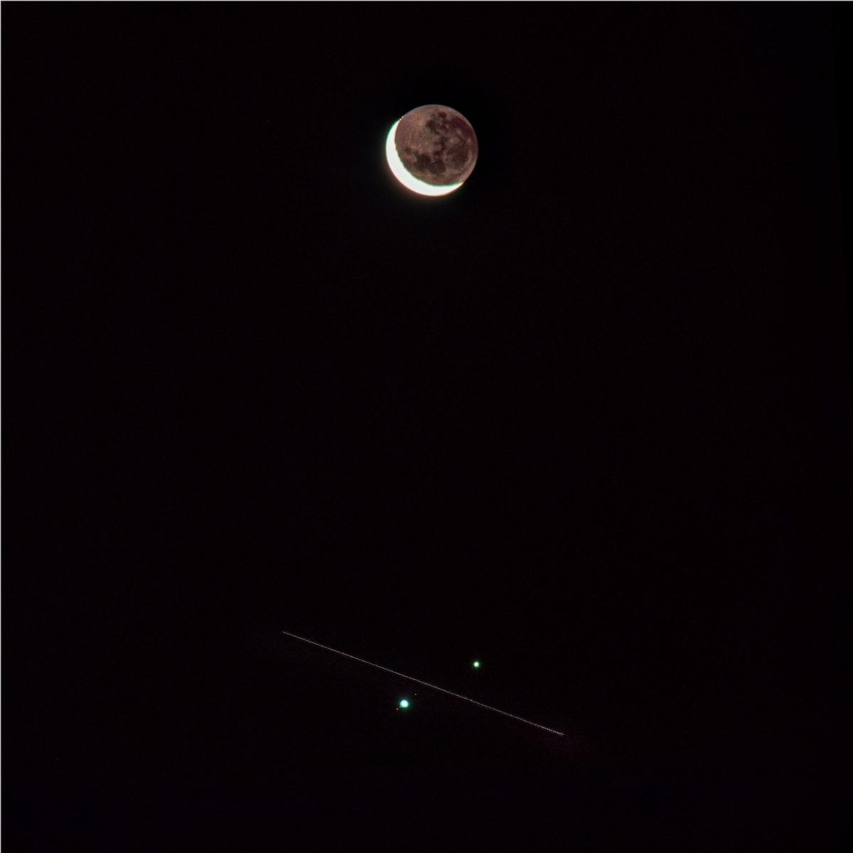 ISS Transit Through Great Conjunction Photography by Jason de Freitas