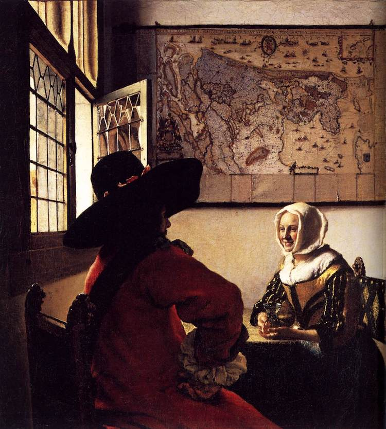 The Officer and the Laughing Girl by Johannes Vermeer