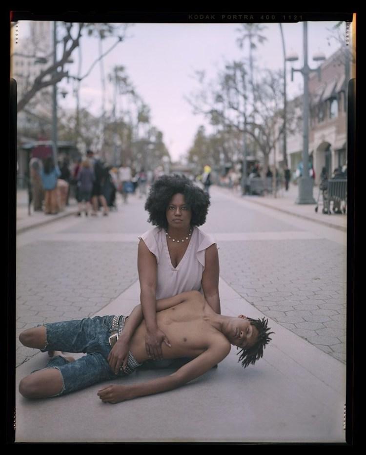 Woman Holding Son Like Pieta Art