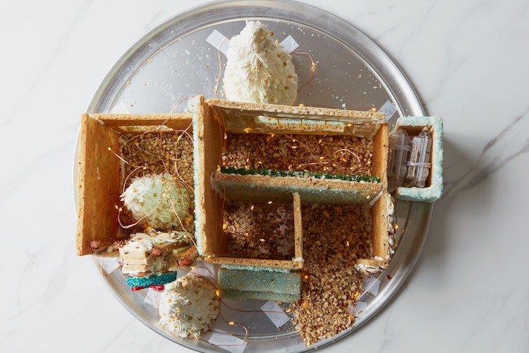 Top View of Judy Kim Mid-Century Modern Gingerbread House