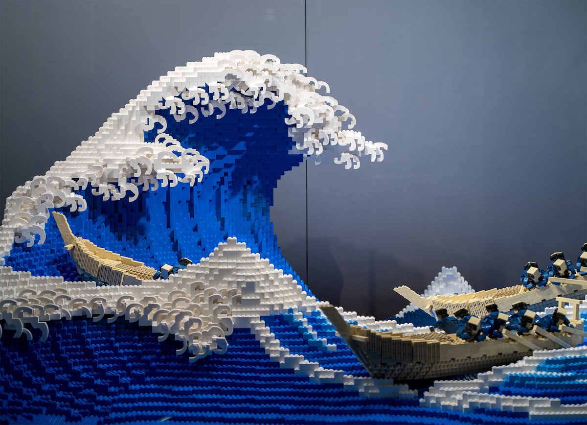 Jumpei Mitsui Great Wave LEGO Sculpture
