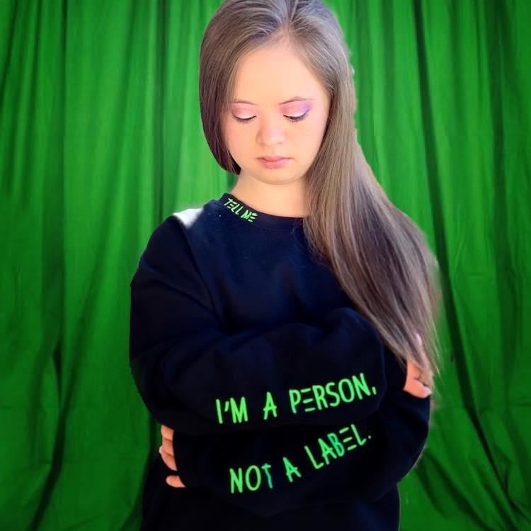 Kennedy Garcia, una modelo con sindrome de down