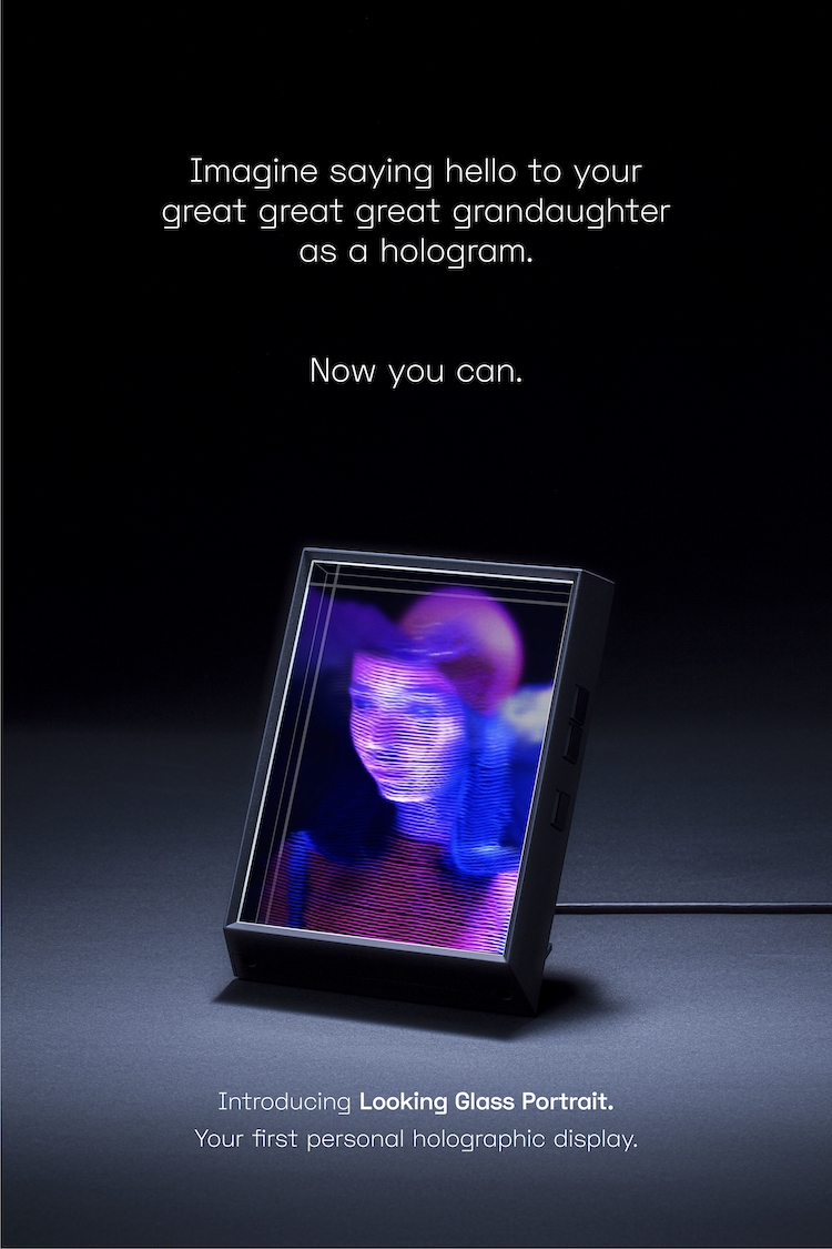 Looking Glass Portrait Holographic pantalla para hacer hologramas