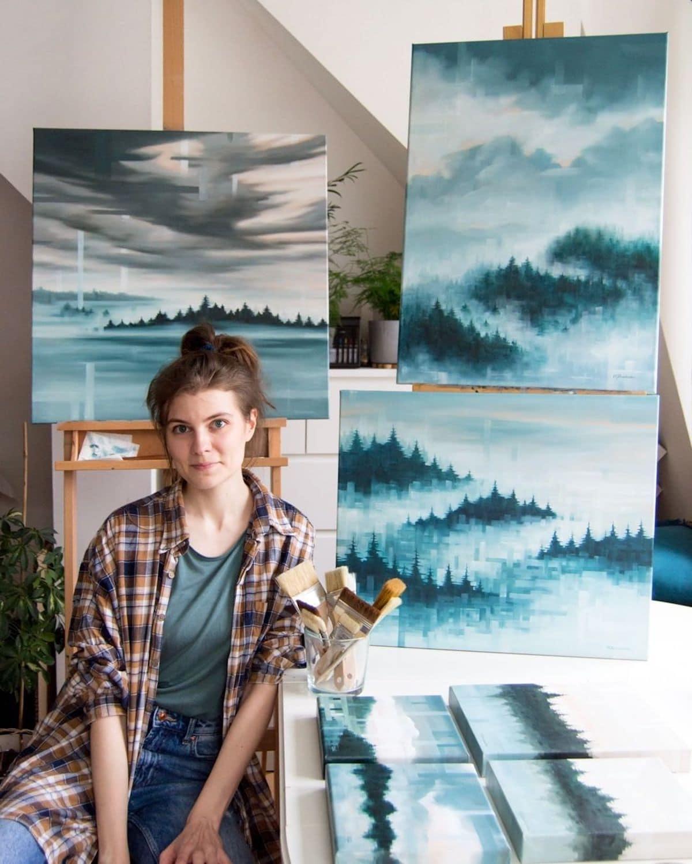 Immersive Landscape Paintings by Luiza Niechoda