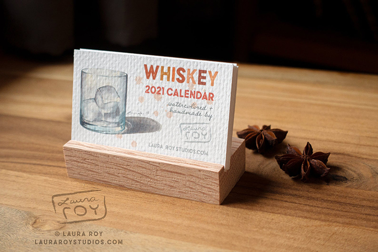 Whiskey Desk Calendar
