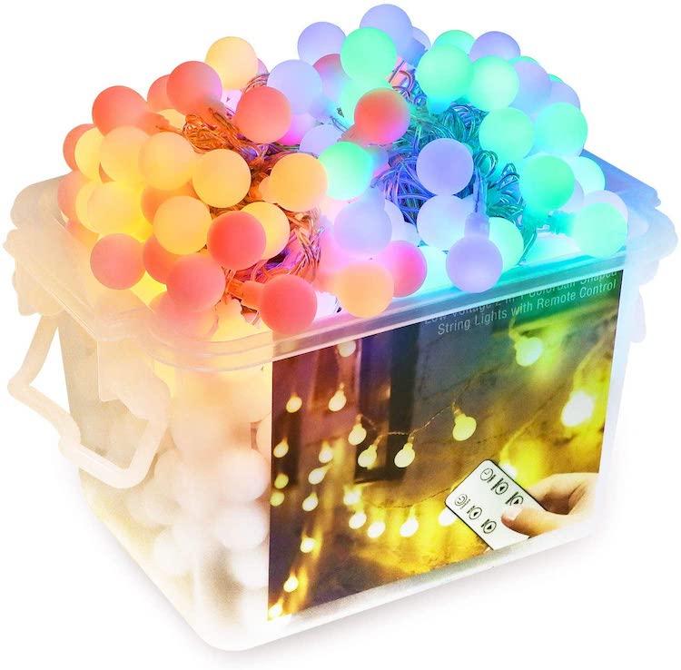 luces de colores para exterior
