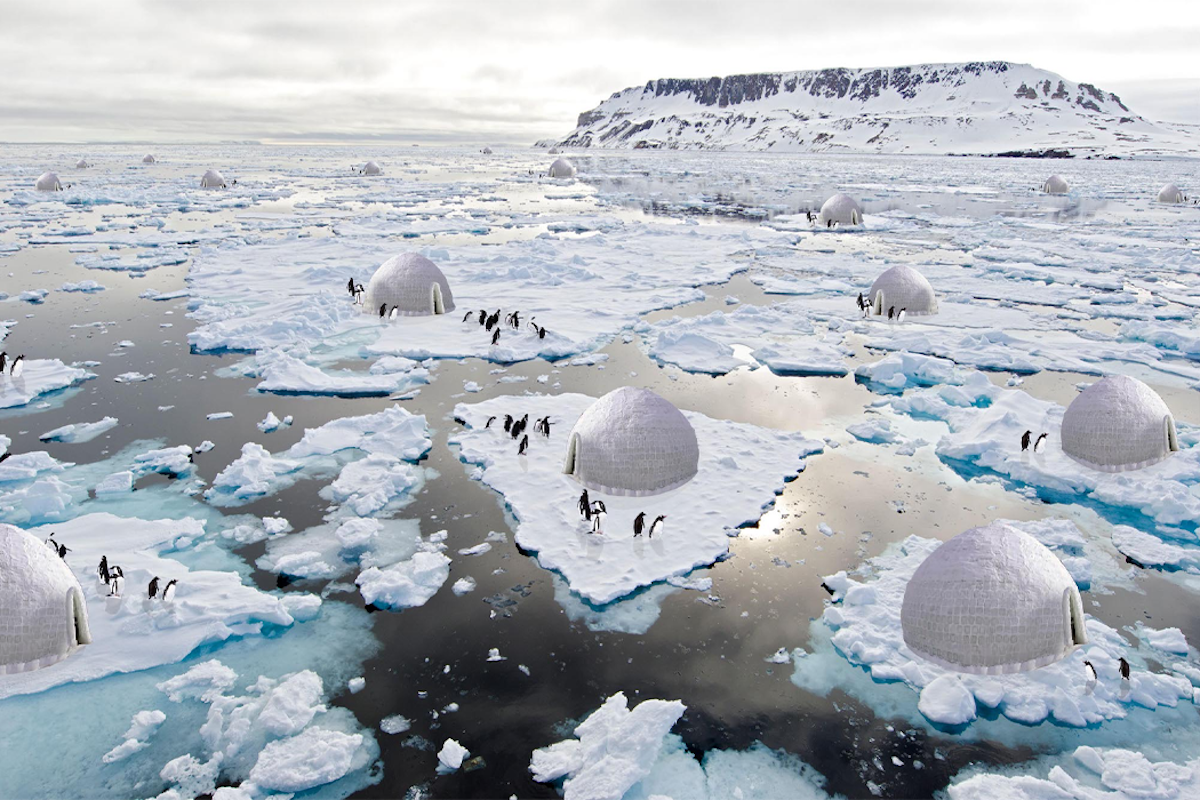 This Penguin Protection System Would Reduce Polar Ice Melting While Helping Penguins Breed