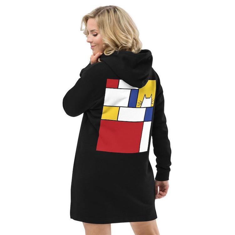 Piet Mondrian-Inspired Hoodie
