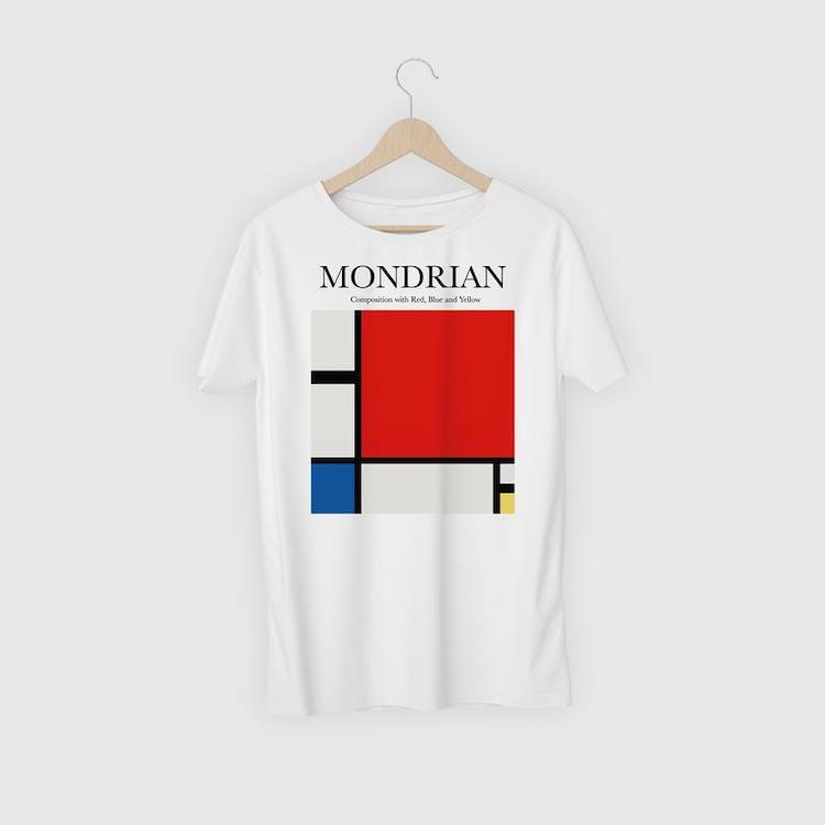 Composition with Red, Blue, and Yellow T-Shirt