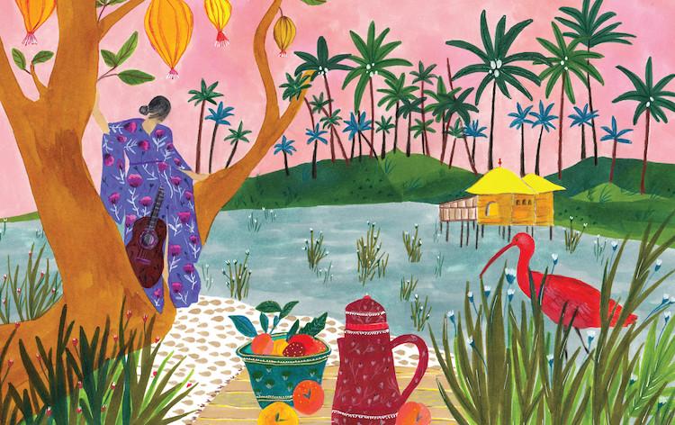 Colorful Landscape Illustration by Roeqiya Fris