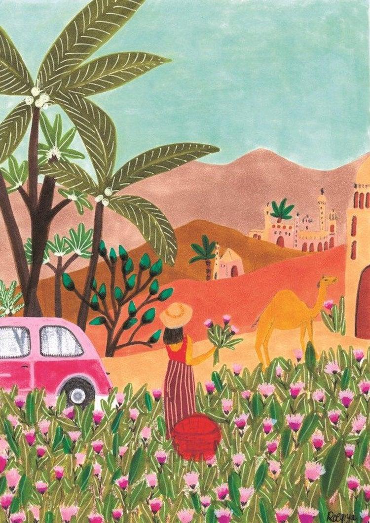 Bright Moroccan Landscape by Roeqiya Fris