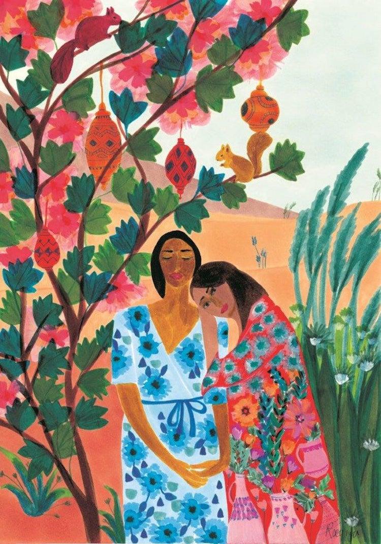 Roeqiya Fris Bold Color and Feminine Energy Artwork