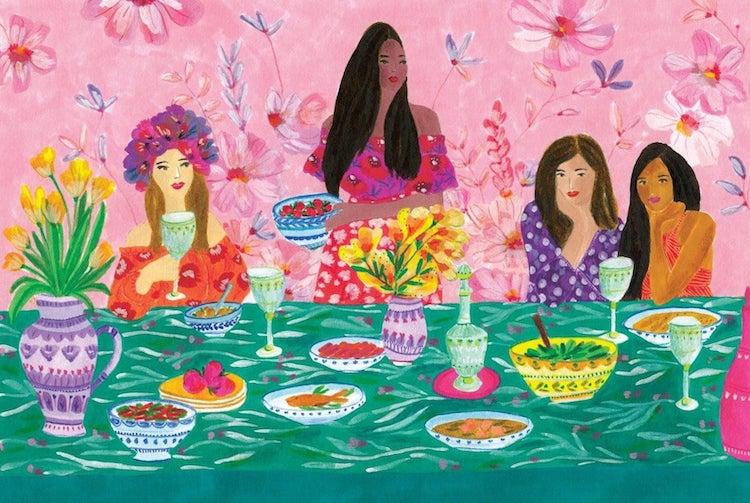Roeqiya Fris Vibrant Feminine Artwork