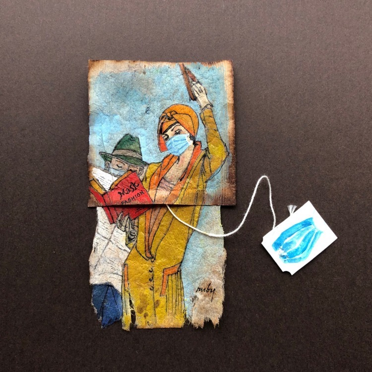 Ruby Silvious Tea Bag Art