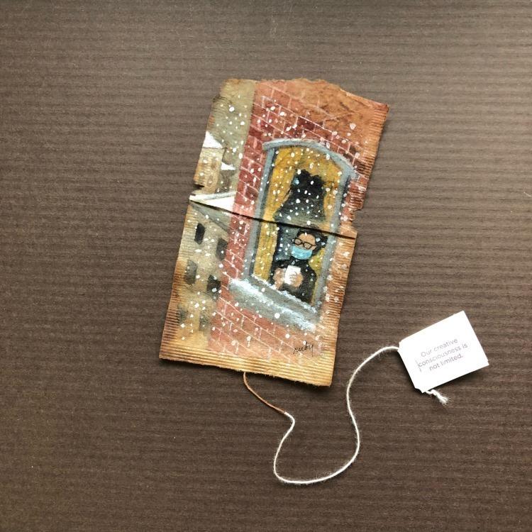 Ruby Silvious Watercolor Art on Tea Bags