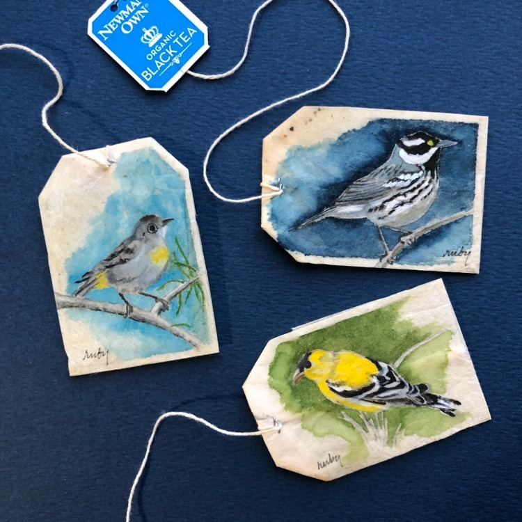 Daily Art On Tea Bags by Ruby Silvious