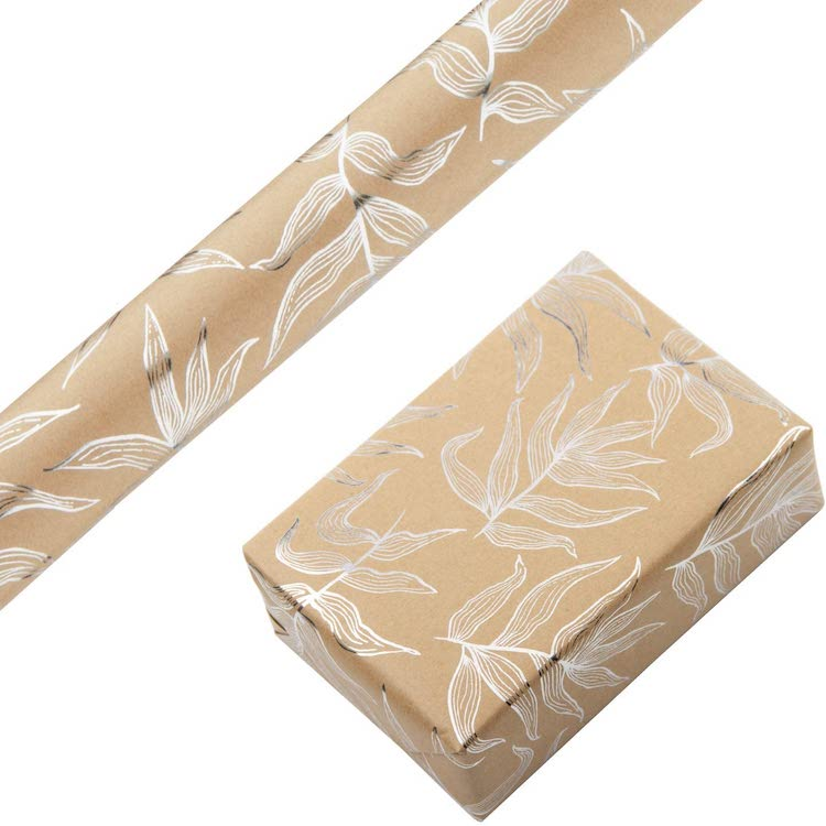 Leaf Wrapping Paper - 20+ Awesome Items to Complete Your Rustic Christmas Aesthetic