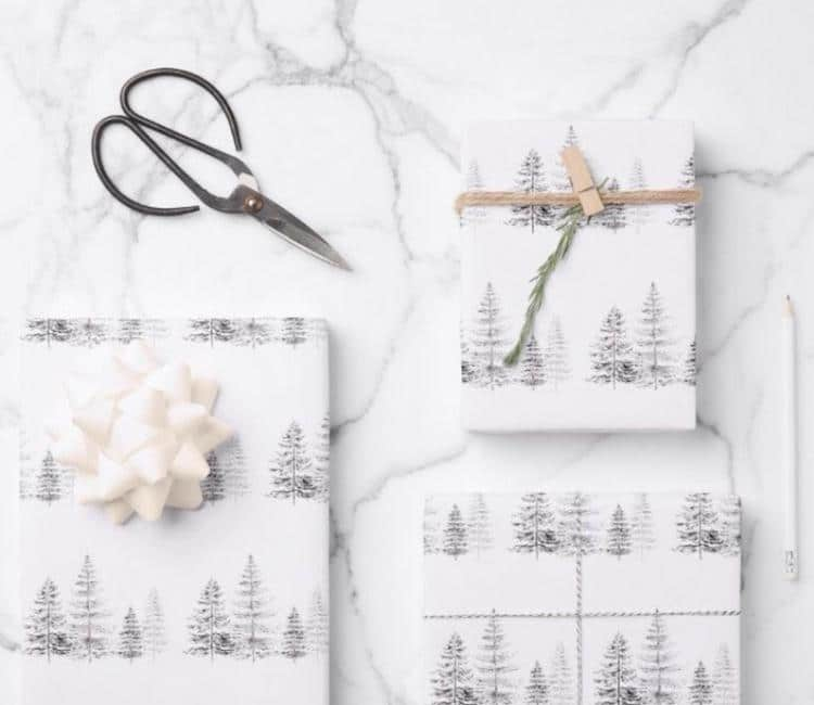 Tree Wrapping Paper - 20+ Awesome Items to Complete Your Rustic Christmas Aesthetic