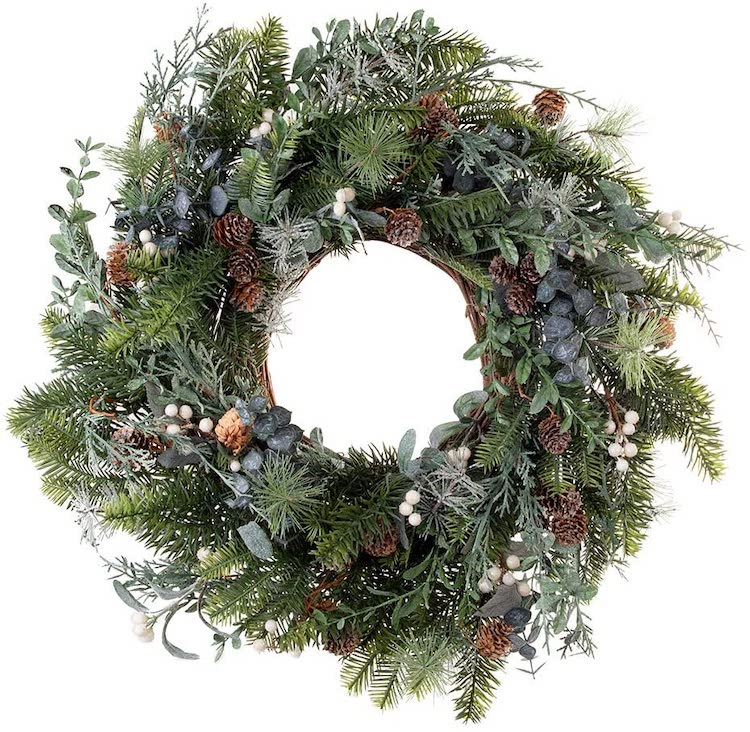 Wreath - 20+ Awesome Items to Complete Your Rustic Christmas Aesthetic