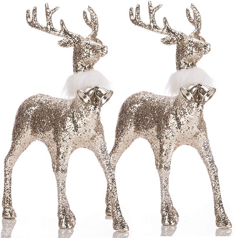 Golden Reindeer - 20+ Awesome Items to Complete Your Rustic Christmas Aesthetic