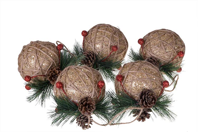 Pinecones and Berries Ornaments - 20+ Awesome Items to Complete Your Rustic Christmas Aesthetic