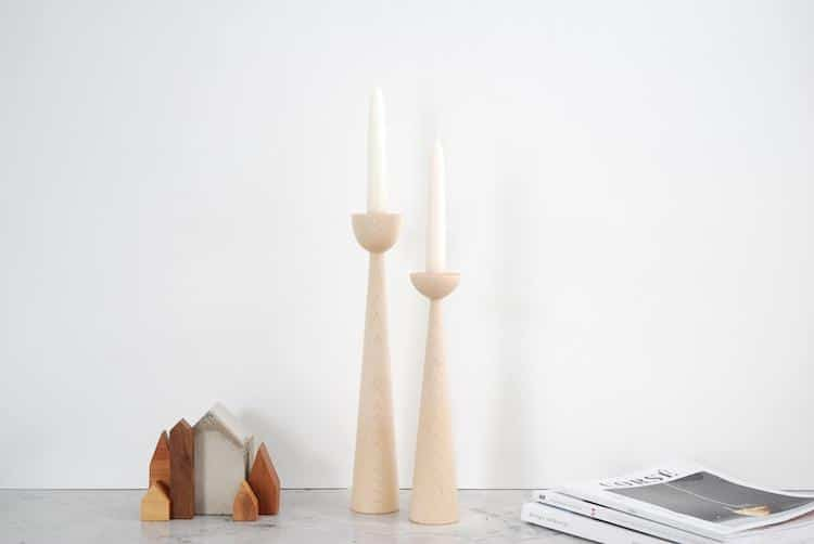 Candle Holders - 20+ Awesome Items to Complete Your Rustic Christmas Aesthetic