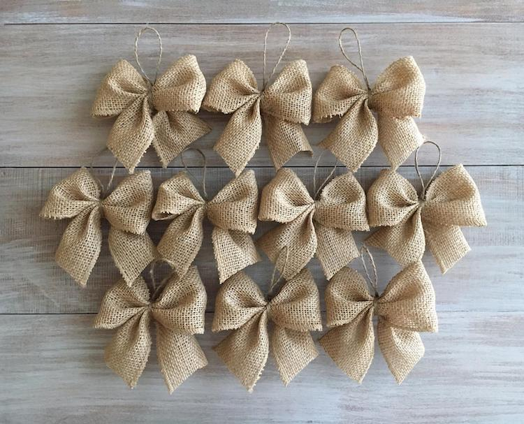 Burlap Bows - 20+ Awesome Items to Complete Your Rustic Christmas Aesthetic