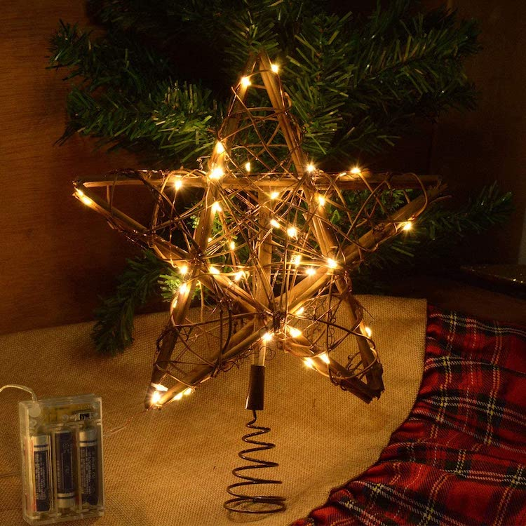 Tree Topper - 20+ Awesome Items to Complete Your Rustic Christmas Aesthetic