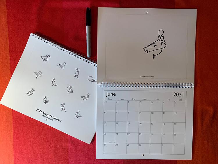 Maine Seagulls 2021 Calendar