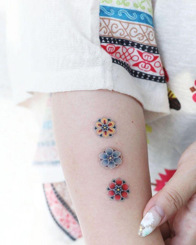 tatuajes coreanos por Sion Kwak