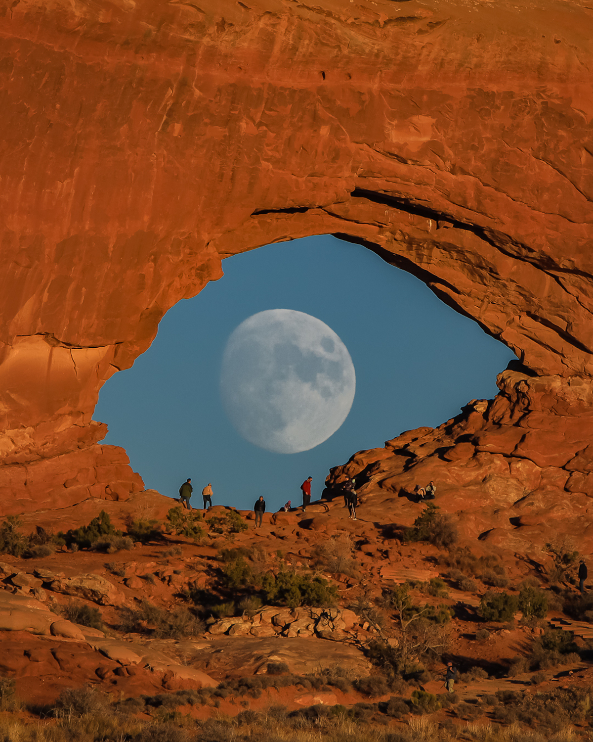 Surreal Moon Photo in Arches National Park