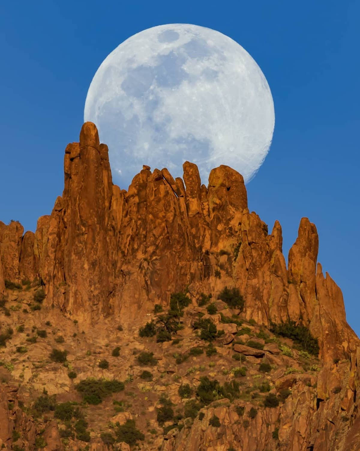 Moon Photo in the Desert