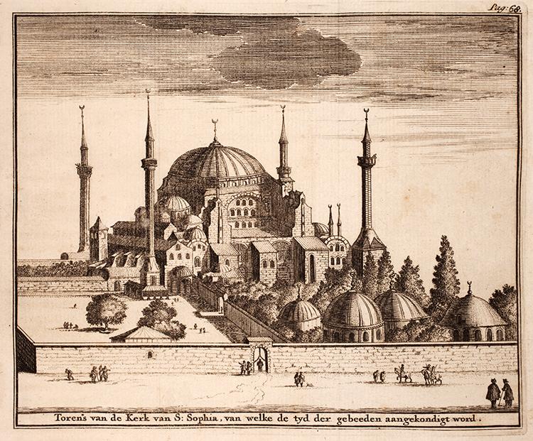 Adriaan Reland Hagia Sophia Mosque Minaret