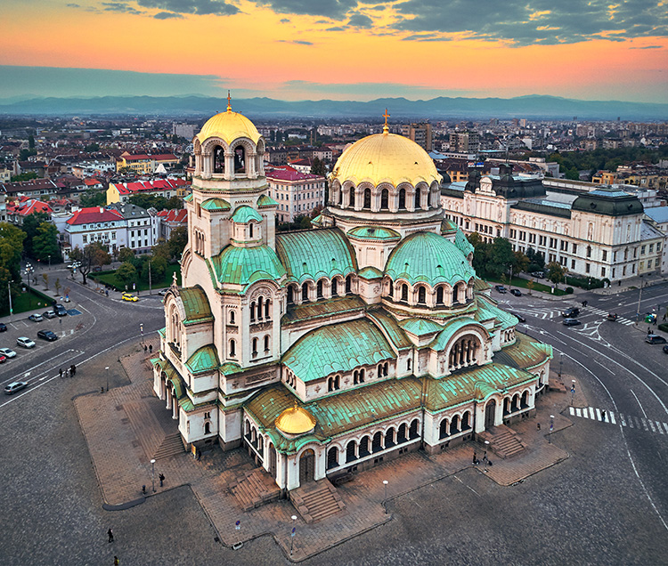 Cathedral Saint Alexander Nevsky in Sofia, Bulgaria