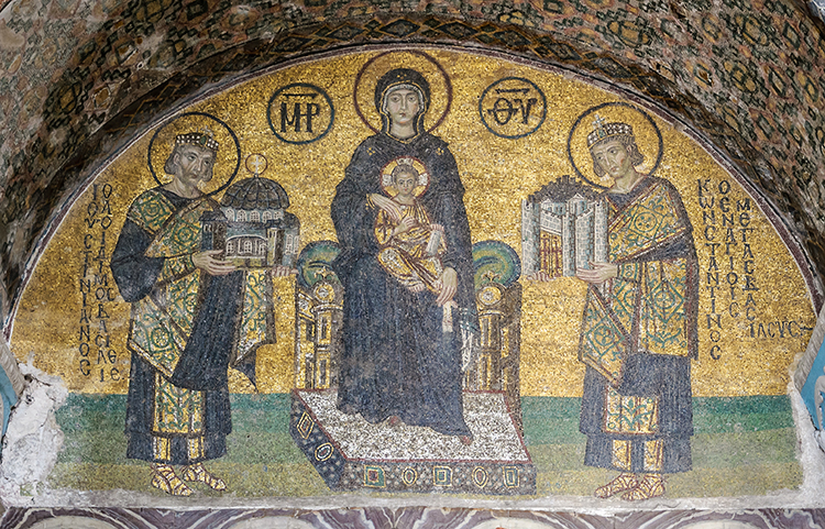 Mosaics Depicting Mary, Jesus, Justinian, Constantine
