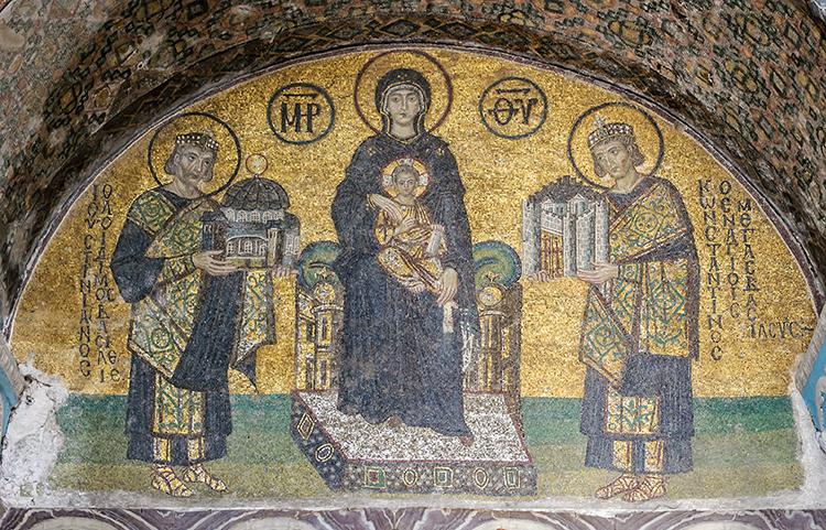 Mosaics Depicting Mary, Jesus, Justinian, Constantine
