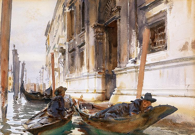Gondoliers' Siesta, 1905 Watercolor