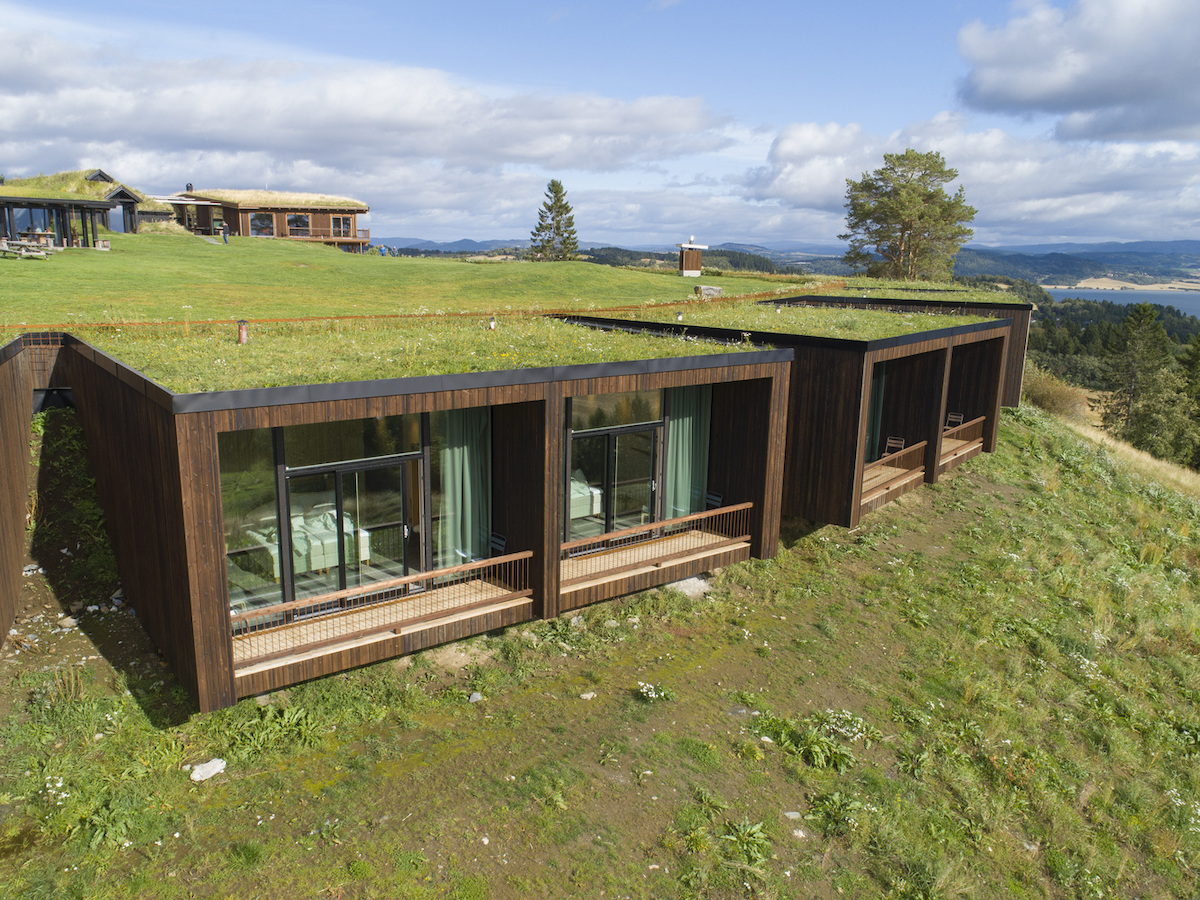 This Unique Hotel Is Camouflaged in a Grassy Nordic Landscape