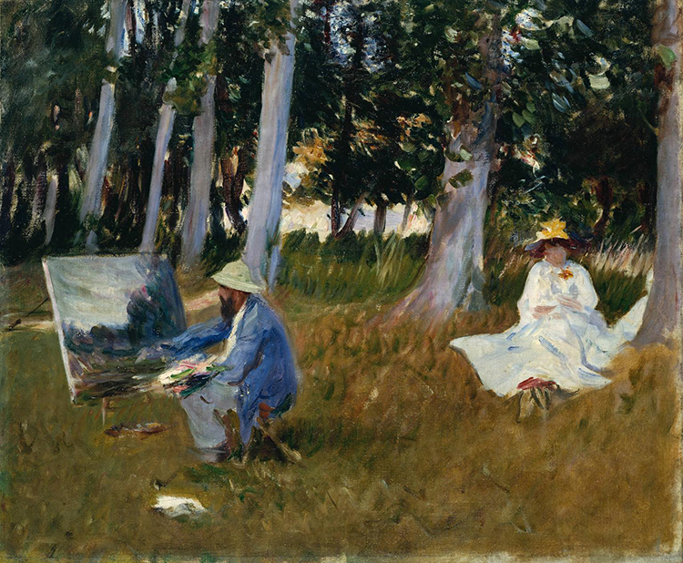 Claude Monet Painting by the Edge of a Wood 1885 by John Singer Sargent 1856-1925
