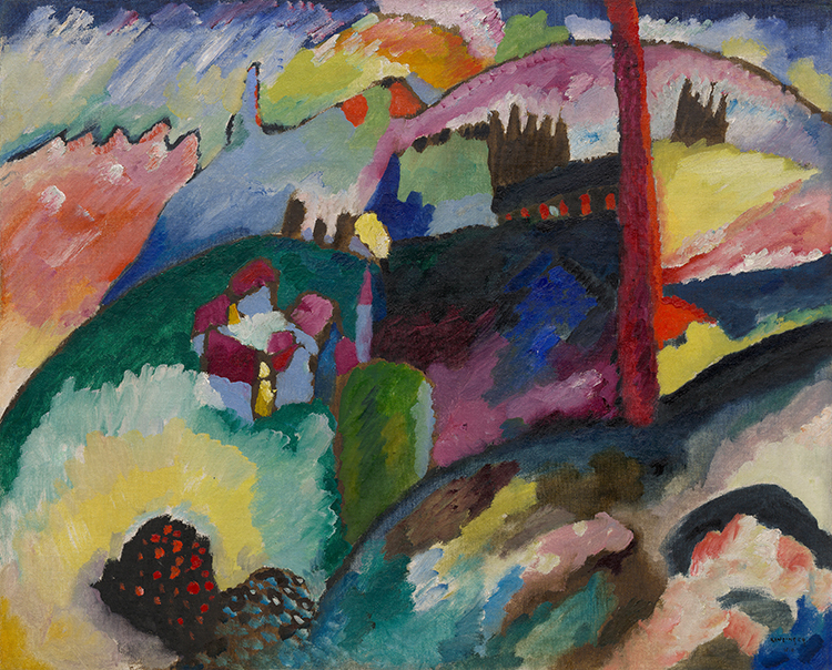 """Landscape with Factory Chimney"" by Wassily Kandinsky"