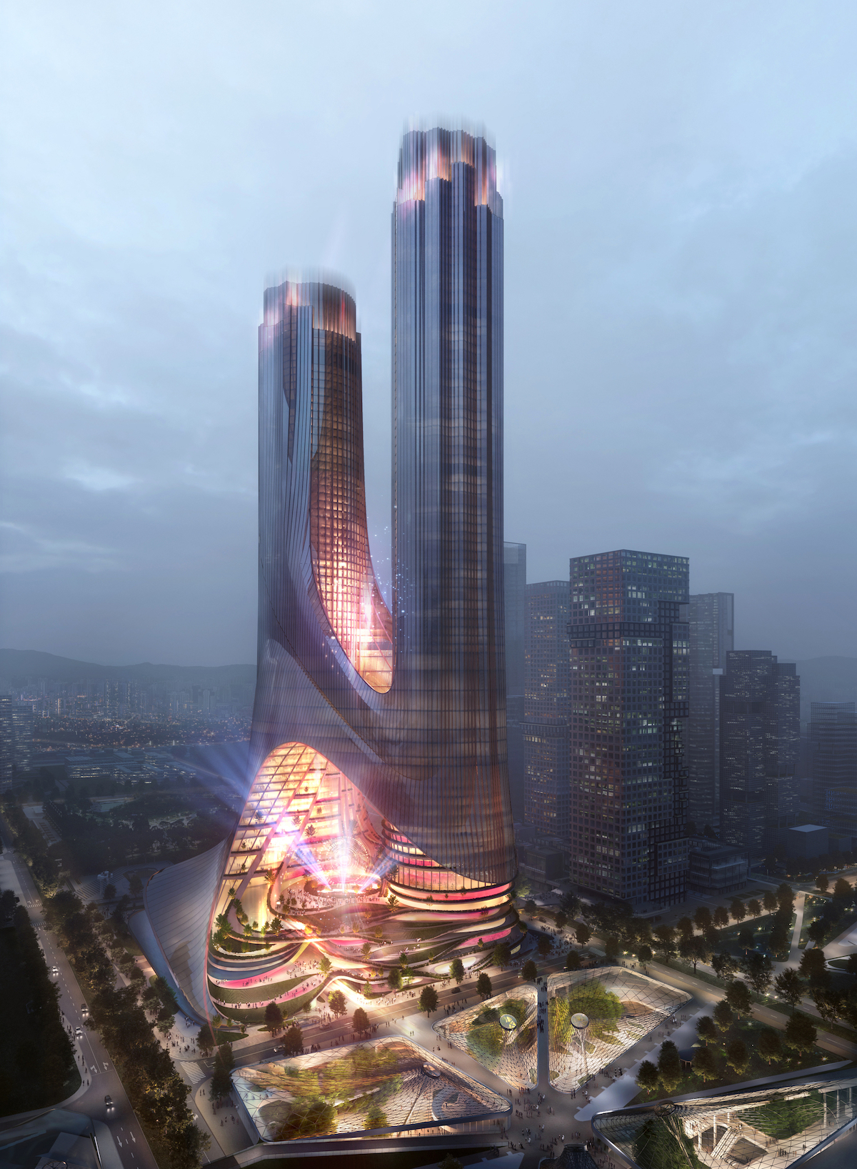 Zaha Hadid Architects Wins Tower Competition for Shenzhen Bay