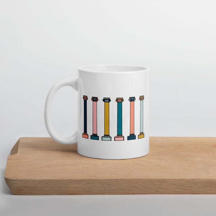 Column Mug - 15 Architecture-Inspired Mugs for Design Lovers