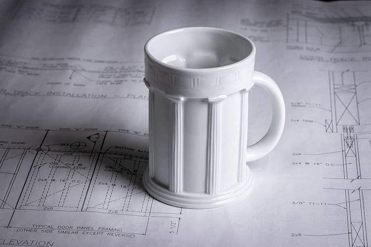 Doric Column Mug - 15 Architecture-Inspired Mugs for Design Lovers