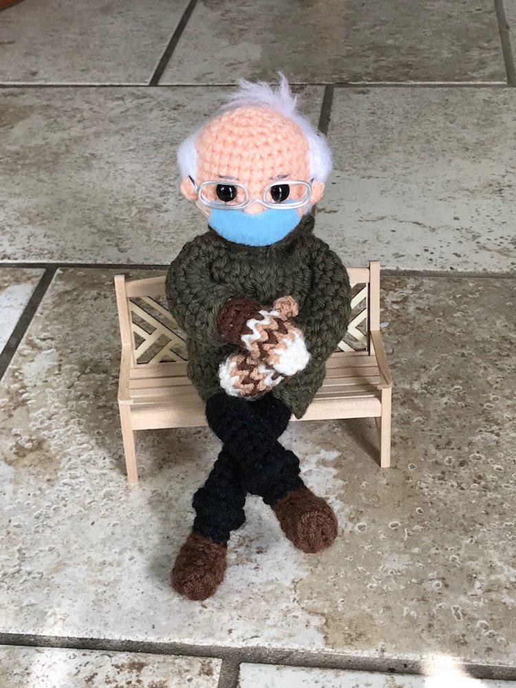 Bernie Sanders Inauguration Meme Crochet Pattern by Tobey King