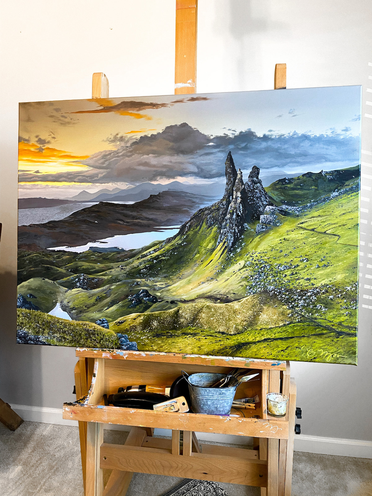 Landscape Painting of the Isle of Skye by Courtney Myers