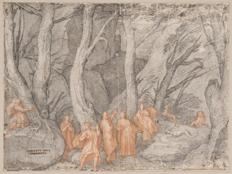 Drawing of Dante's 'Inferno' Canto I