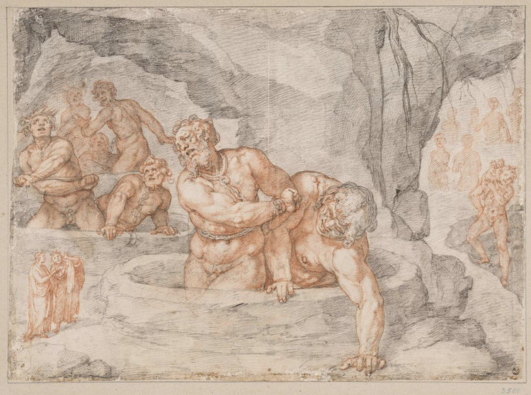 Drawing Illustrating Dante's 'Inferno' From 'Divine Comedy'