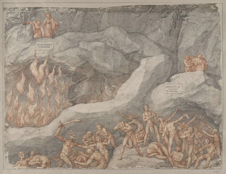 Drawing Illustrating Dante's 'Inferno'